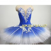 Blue Bird Tutu Professional Ballet Tutus,Sleeping Beauty Pancake Ballet Dress Woman Girls Classical Ballet Stage Costume
