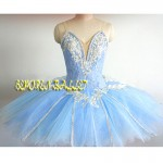 Blue Bird Tutu Professional Ballet Tutus,Sleeping Beauty Pancake Ballet Dress Woman Girls Classical Ballet Stage Costume