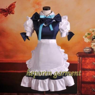 High Quality Halloween Custom Made Cosplay Maid Dress Dance Costume Dresses For Adult Kids,Wonderland Costume Retail Wholesale
